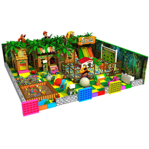 Jungle Adventure Children Soft Play Equipment with Ball Pit and Plastic Toys