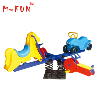 Outdoor plastic seesaw for kids