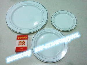 Hot stamping foil for disposable dish