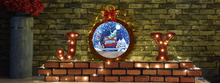 (JYQ050CR-RYH) Christmas Decoration Themes Snowing Blessings with Giant Christmas Ball and Lighting for Gifts Idea