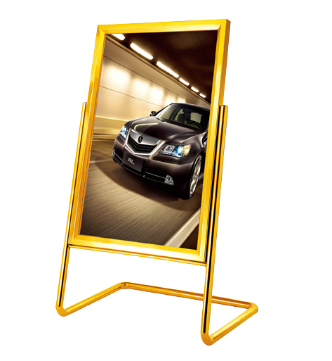 Lobby L Style Sign Stand with Tantianium Color (ZP-13)