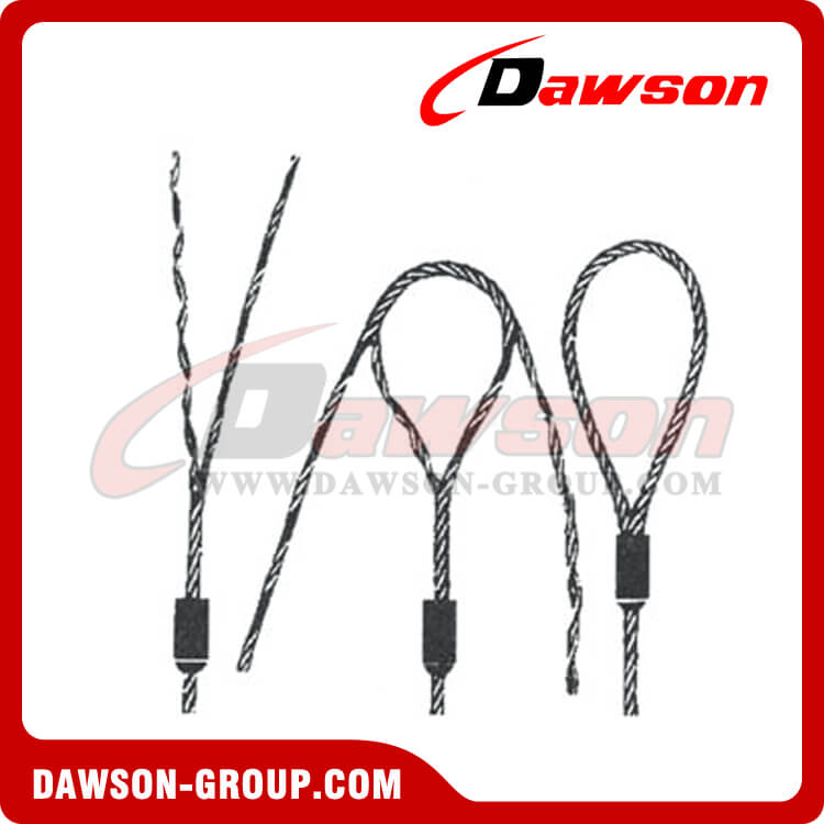 WS71-E-E,T,TH,S&K Flemish Eye Splice Wire Rope Slings - China ...