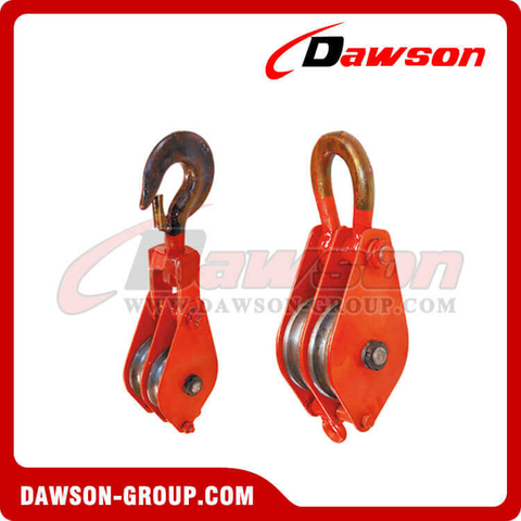 DSPB-F2 Hook (Chain link) Series Closed Double Wheel Pulley