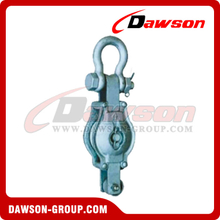 DS-B013 Malleable Iron Shell Block For Manila Rope Single Sheave With Shackle