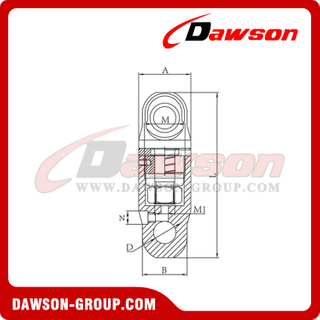 DS316 G80 Rotation Swivel For Hoist