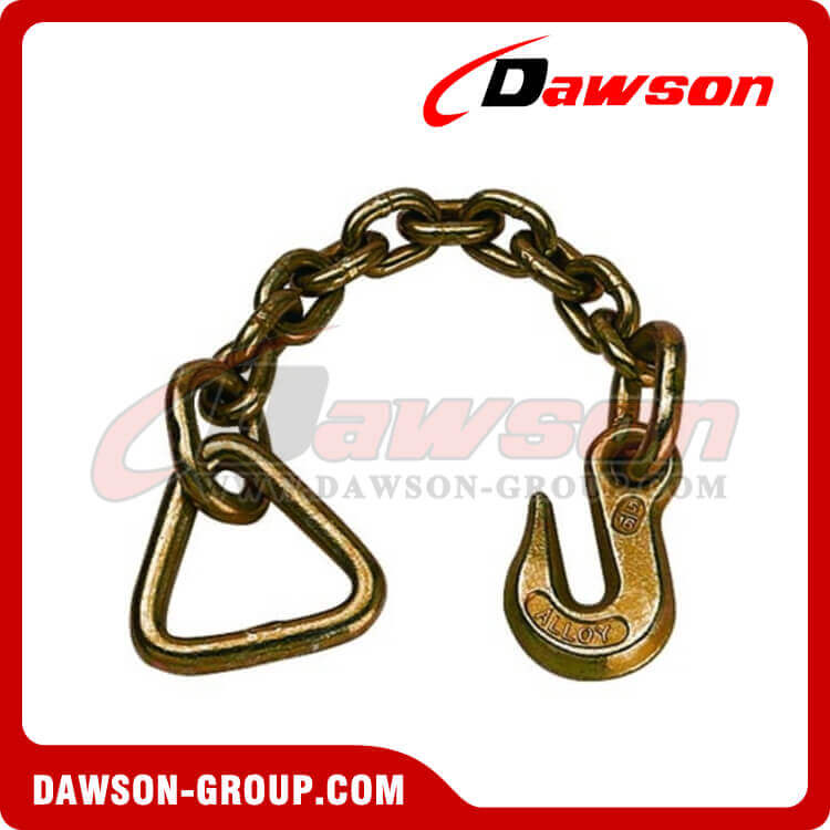 US Standard Chain With Delta and Grab Hook Each On One End CHAIN LEADS