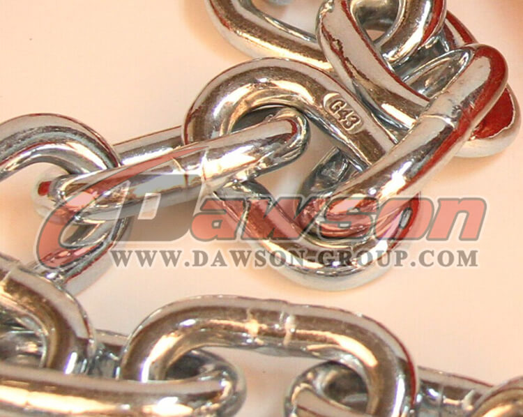 China G43 Trailer Safety Chains Assembly with clevis slip hooks made by dawon group ltd.