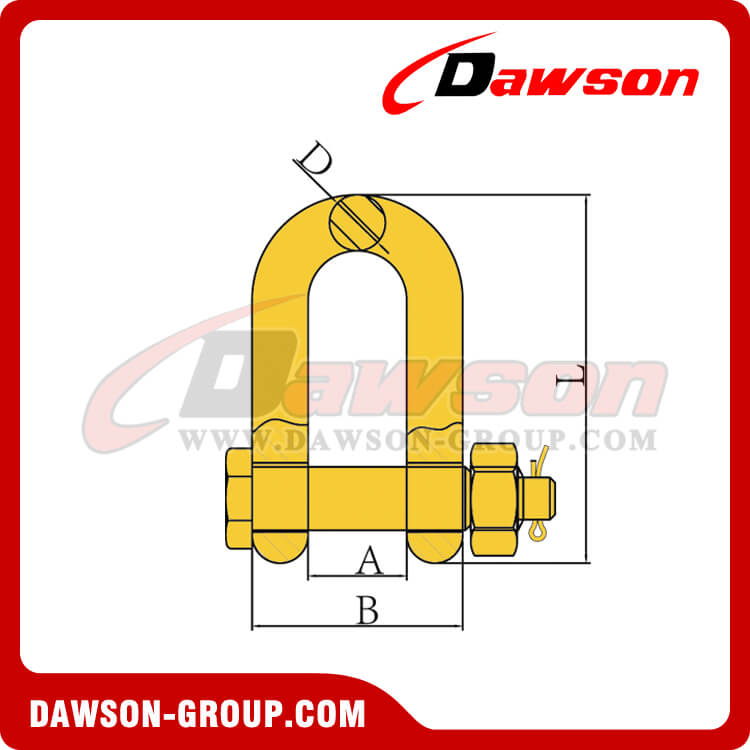 DS049 G80 BOLT TYPE DEE SHACKLE DAWSON-GROUP