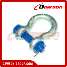 AS2741 Forged Alloy Grade S Bow Shackle With Safety Pins
