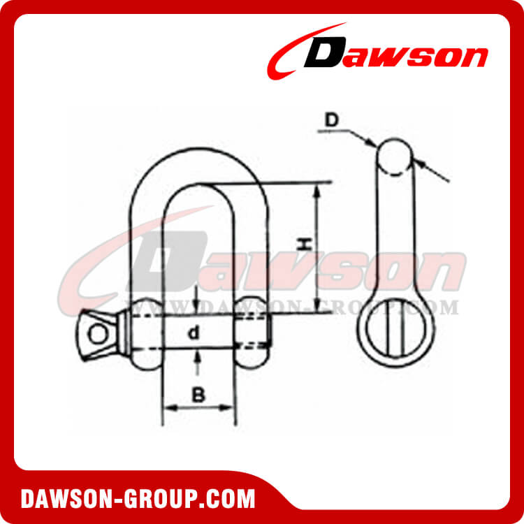 COMMERIAL GALV.DEE SHACKLES EUROPEAN TYPE Dawson-group