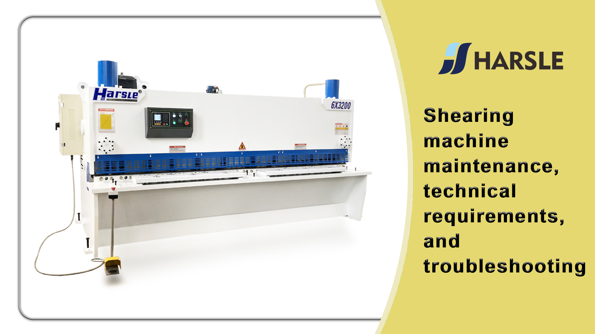 Shearing machine maintenance, technical requirements, and troubleshooting