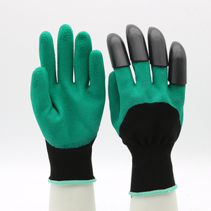 CE EN 388 Anti Slip Oil Chemical Resistant Latex Gloves with Claw