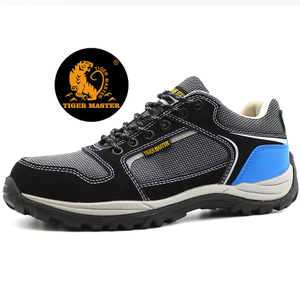 CE Anti Slip Fiberglass Toe Airport Safety Work Shoes Sport