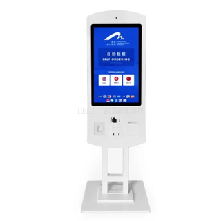 32inch touch Screen LCD Display Digital Signage Shop Ticket Vending Machine Kiosk with Printer and NFC and Qr Code Scanner Payment Kiosk