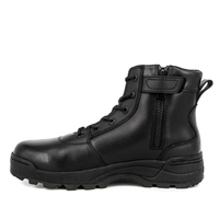 Anti slip quality army zipper full leather tactical boots 4118