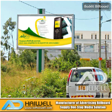 Outdoor LED Lighting Backlit Advertising Billboard Structure