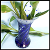 popular Bohemia style dark blue glass vase for home decoration