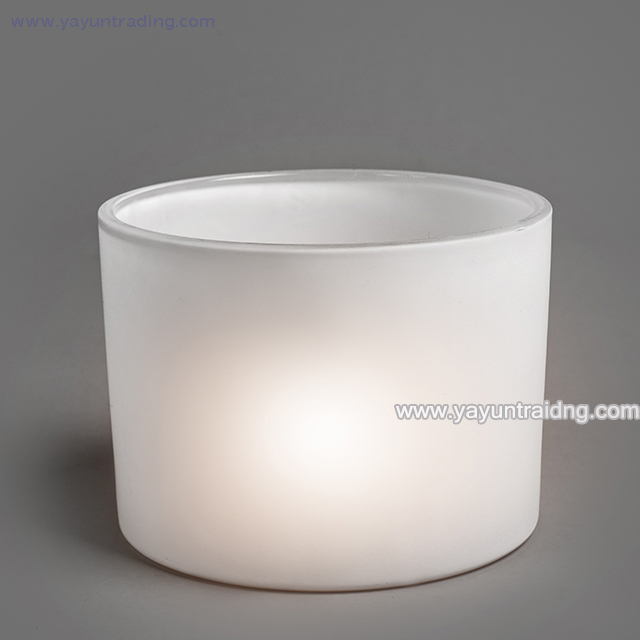 wholesale matte white votive glass candle holder