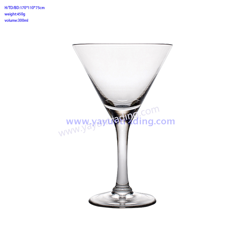 Handmade promotional crystal cocktail glass goblet