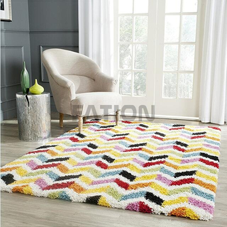 Handmade Colorful Shag Collection Carpet Home Decor Area Rug