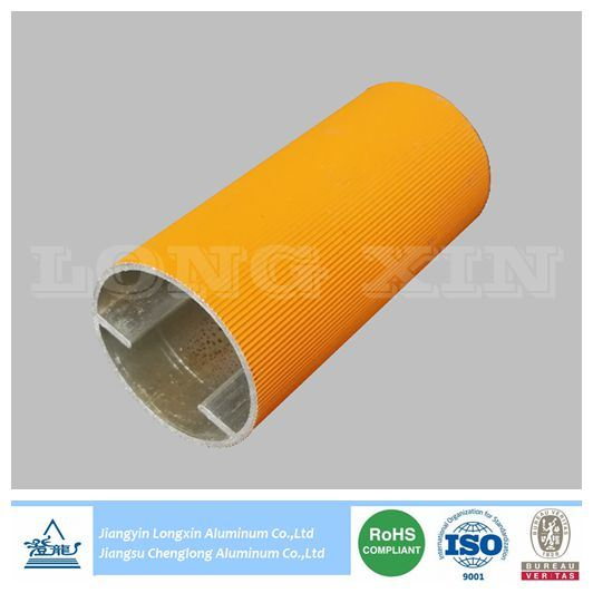 Yellow Powder Coated Aluminum Pipe