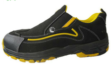 Cemented lightweight and leather comfortable safety shoe