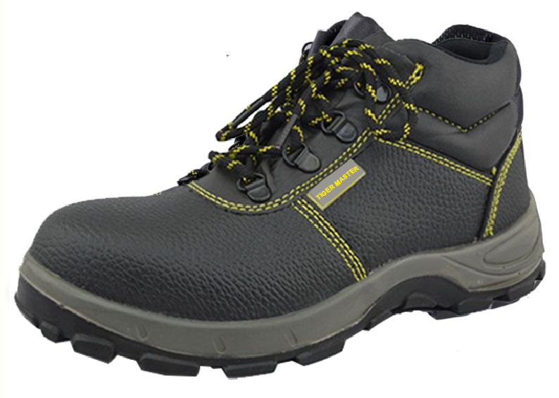 Genuine leather pu sole steel toe safety boot