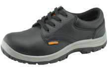 Low cut embossed PU artificial leather industrial safety shoes