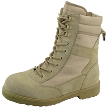 suede leather army boots with steel toe