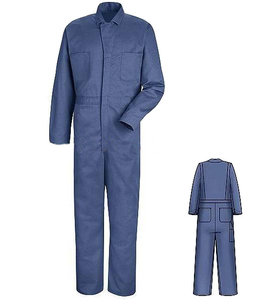 Navy blue work coverall one piece work garments uniform