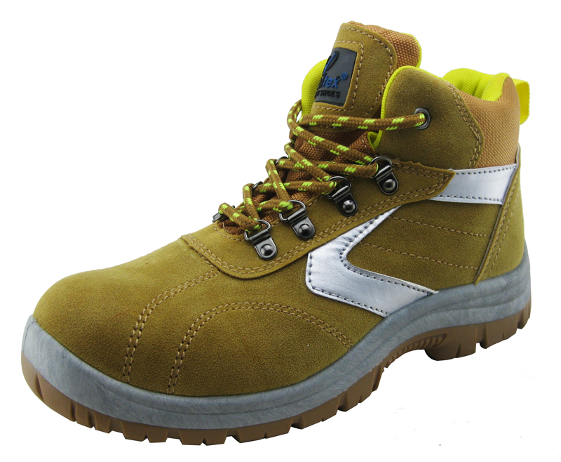 Microfiber leather PVC injection cheap industrial safety shoes
