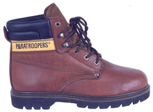 97090 waxy full grain leather steel toe cap safety boots