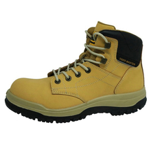 0160 hot sales split nubuck leather steel toe industrial safety boots men
