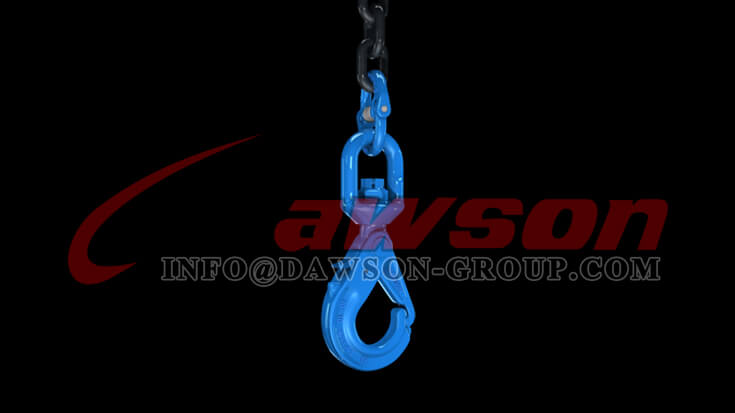Application of Dawson Grade 100 Special Swivel Self-locking Hook with Grip Latch for Chain Slings - China Factory