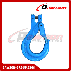 G100 / Grade 100 Clevis Sling Hook with Cast Latch for Chain Slings