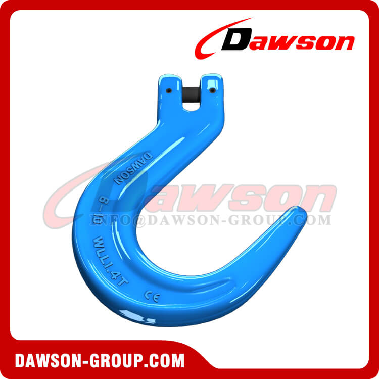 DS1082 G100 Forged Alloy Steel Clevis Foundry Hook, Large Opening Hook