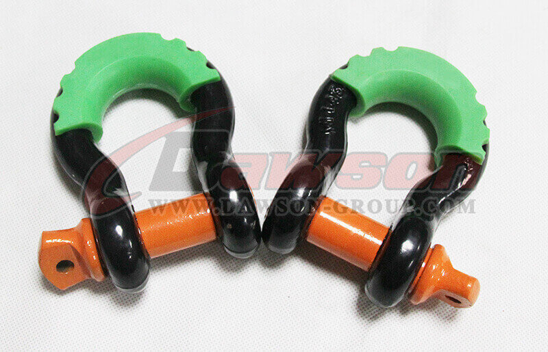 Forged Steel Bow Shackle with PU Protection for Recovery Strap - China Manufacturer Factory