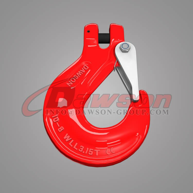 G80 Clevis Sling Hook with Cast Latch for Chain Slings, Grade 80 Clevis Hook - Dawson Group Ltd. - China Factory