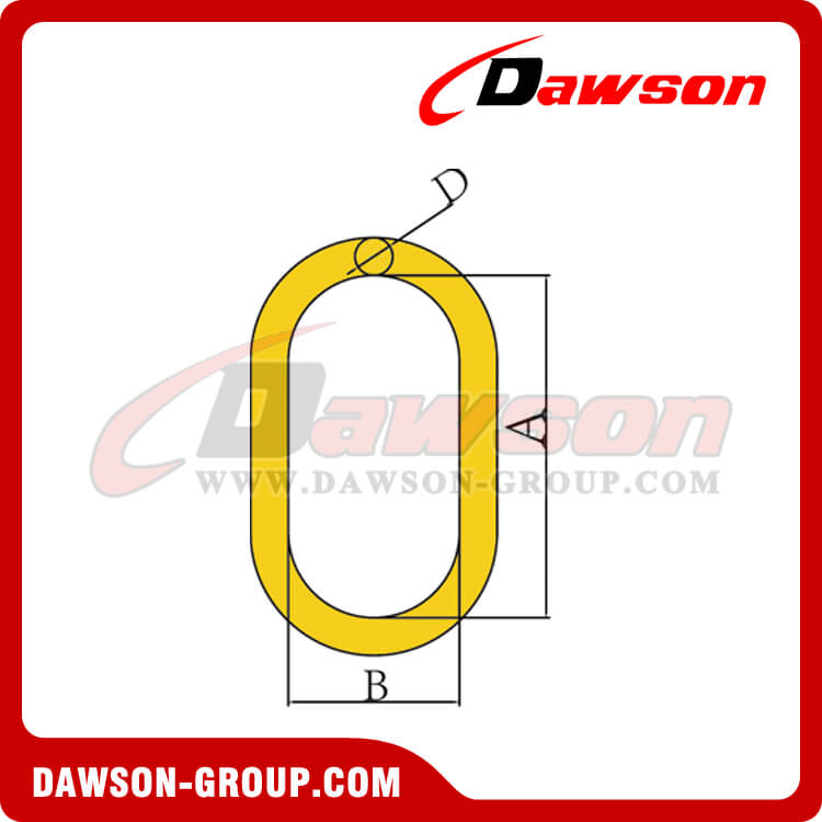DS482 G80 Master Link with Flat for Wire Rope Slings - Dawson Group Ltd. - China Supplier Factory