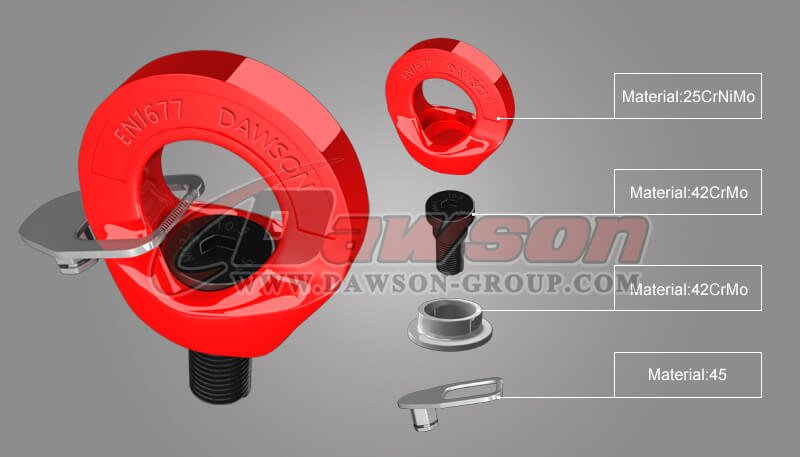 G80 Eye Type Rotating Ring,Grade 80 Lifting Point - China Manufacturer Supplier, Factory