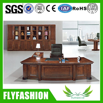 Solid wood office boss executive desk for sale(ET-01)