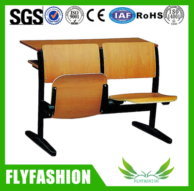 classroom wood desk and folding chair for sale (SF-12H)