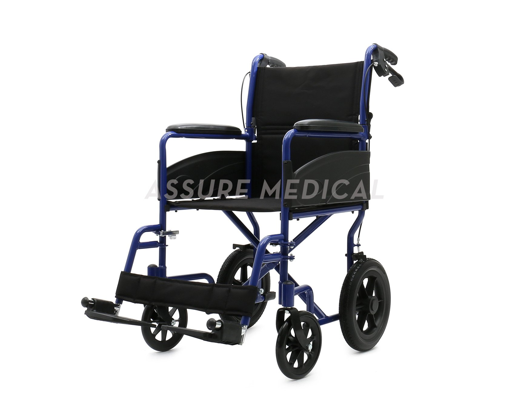 AL-BL03H Aluminum Light Weight Transport Wheelchair with attendant brake