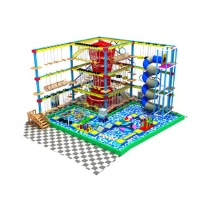Commercial Kids Theme Park Ball Pit with Rope Course