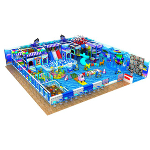 Ocean Themed Amusement Park Kids Soft Indoor Play Structure with Ball Pit