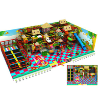 Customized Jungle Theme Kids Indoor Soft Amusement Park Equipment with Trampoline