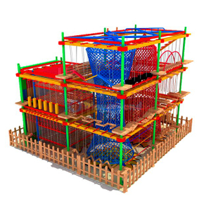 Customized Design Children Adventure Glide Ropes Course
