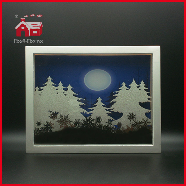 LED Glass Decoration Square Glass Frame LED Decoration Wholesale Shadow Box Frames