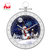 2019 New Design of Snowing Christmas Decoration Wall Clock with Led Light