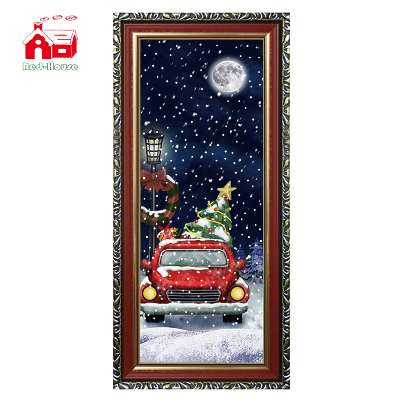 (WP080CR-RJG)Decorative Engraved Wall Plaque with Car and Lighting inside for Wholesale